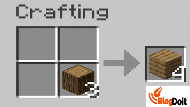 How to Craft Minecraft Furnace - Step 01