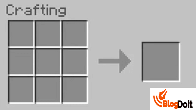 How to Craft Minecraft Furnace - Step 04