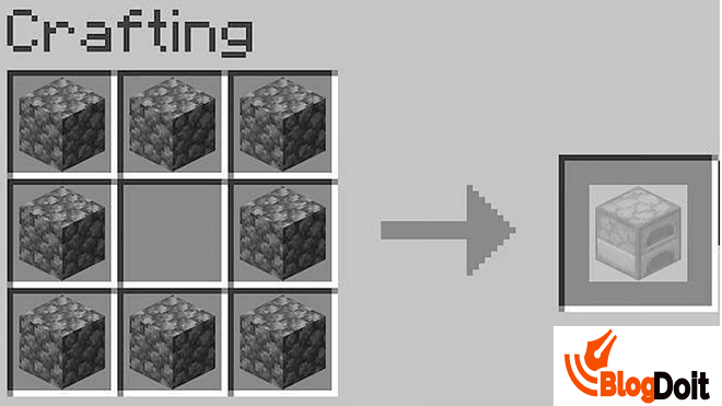 How to Craft Minecraft Furnace - Step 05
