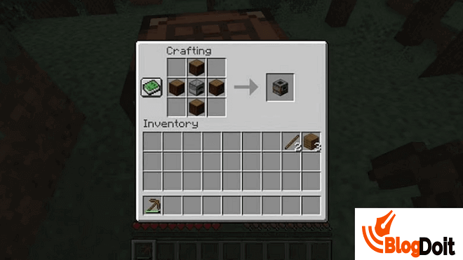 How to Craft Minecraft Furnace - Step 06