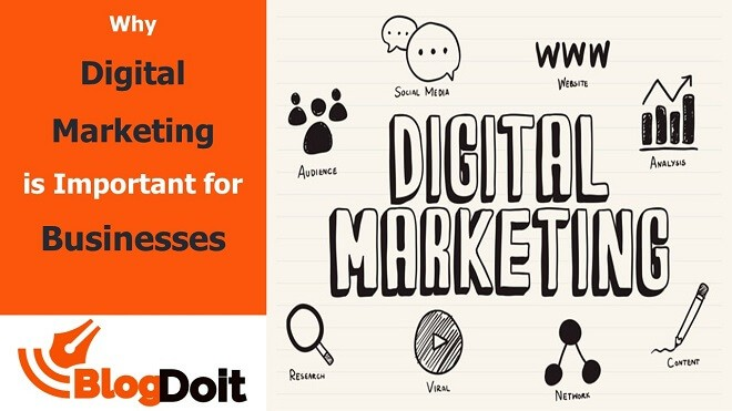 Why Digital Marketing is Important for Businesses Feature Image - BlogDoit